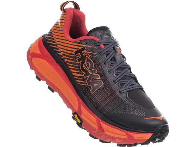 Hoka One One EVO Mafate 2 Running Shoes Herre Black/Poppy Red